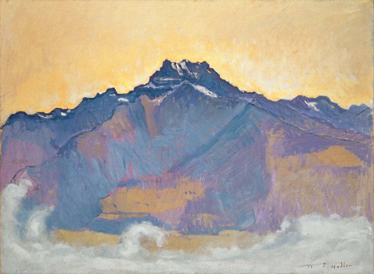 Ferdinand hodler swiss mountain exhibition kunstmuseum 			basel platform green nature landscape